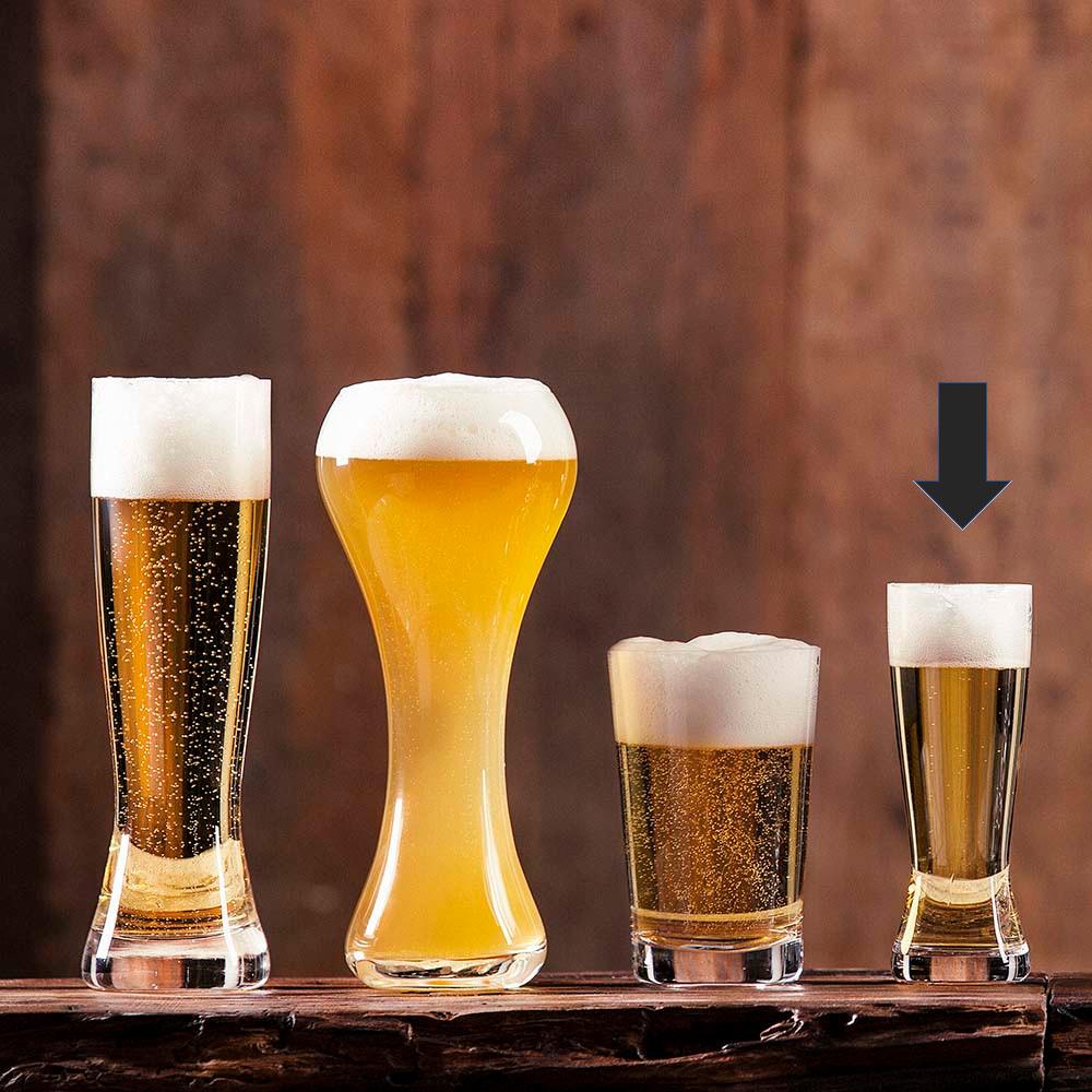 Jogo de Copos de Cerveja Pilsen Cristal Oxford Catarina 180ml Classic 6 Unidades