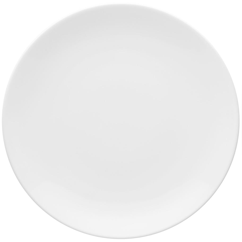 Jogo de Pratos Brancos Rasos Porcelana Oxford Coup White 6 Unidades