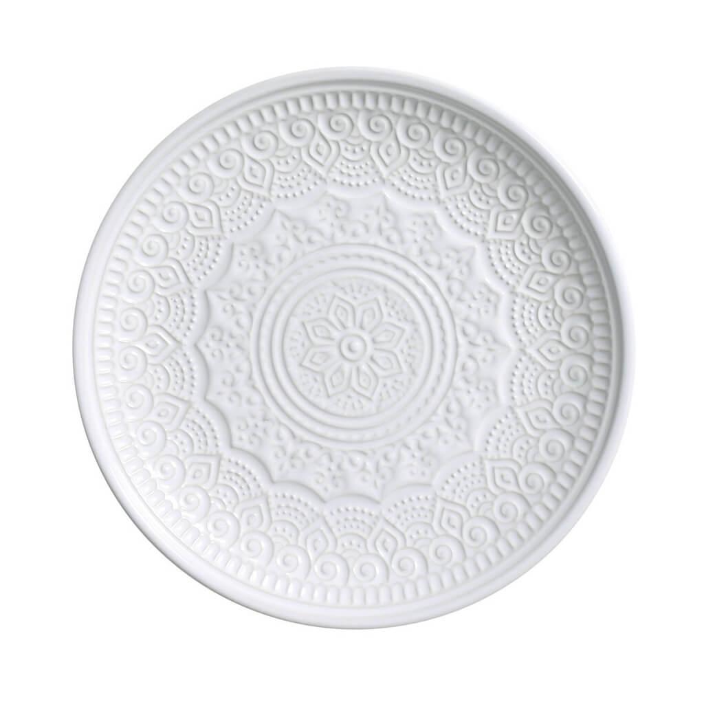 Jogo de Pratos de Sobremesa Branco Agra 6 Unidades