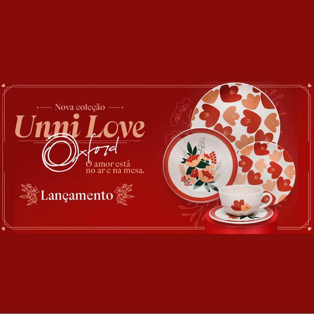 Jogo de Pratos de Sobremesa Oxford Unni Love 19cm 6 Unidades