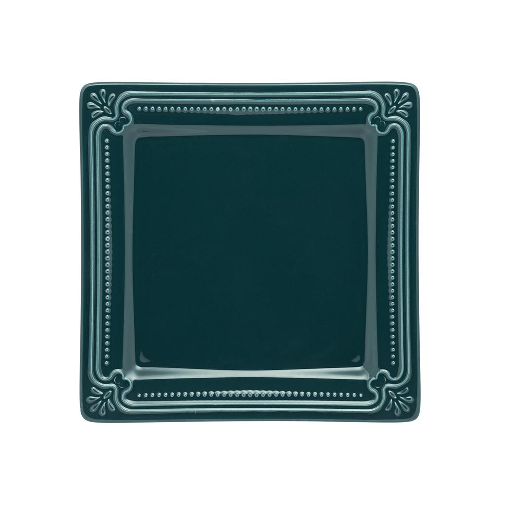Jogo de Pratos de Sobremesa Porcelana Oxford Verde Comté 6 Unidades