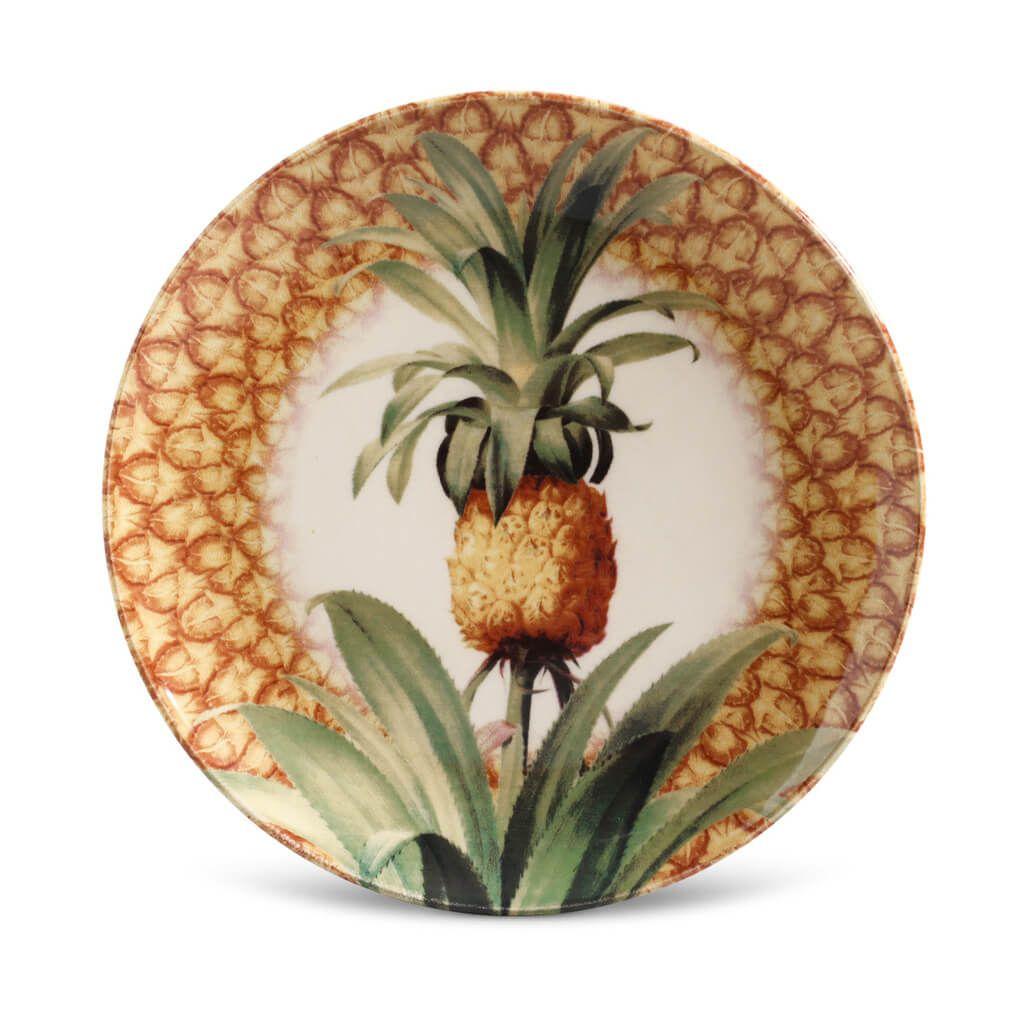 Jogo de Pratos de Sobremesa Porto Brasil Pineapple Império 6 Unidades