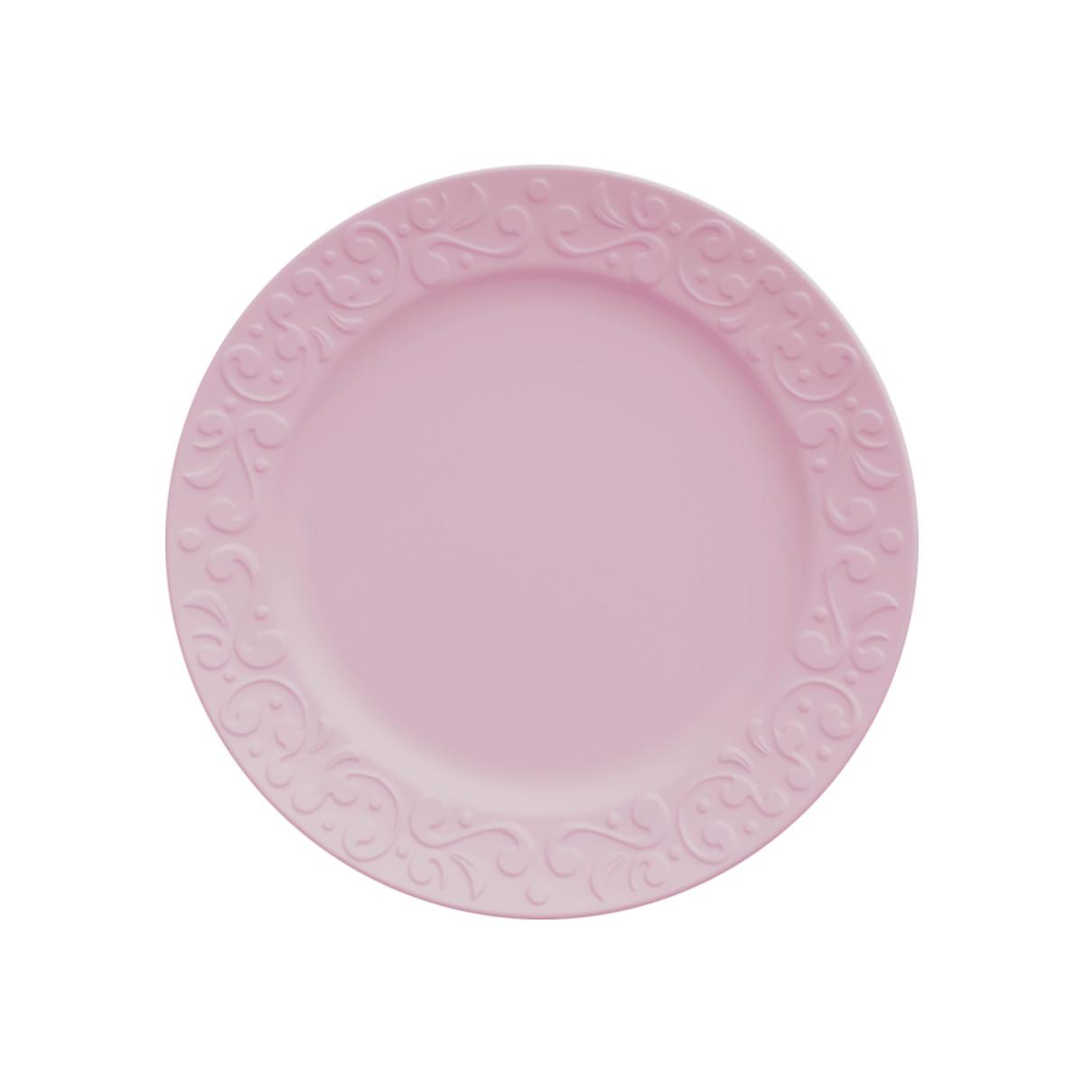 Jogo de Pratos de Sobremesa Rosa Germer Tassel 6 Unidades