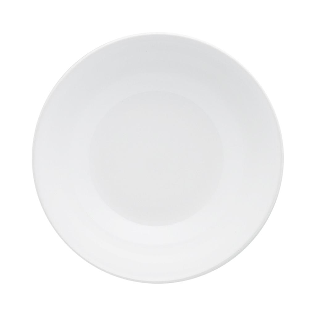 Jogo de Pratos Fundos Brancos Oxford White 20,5cm 6 Unidades