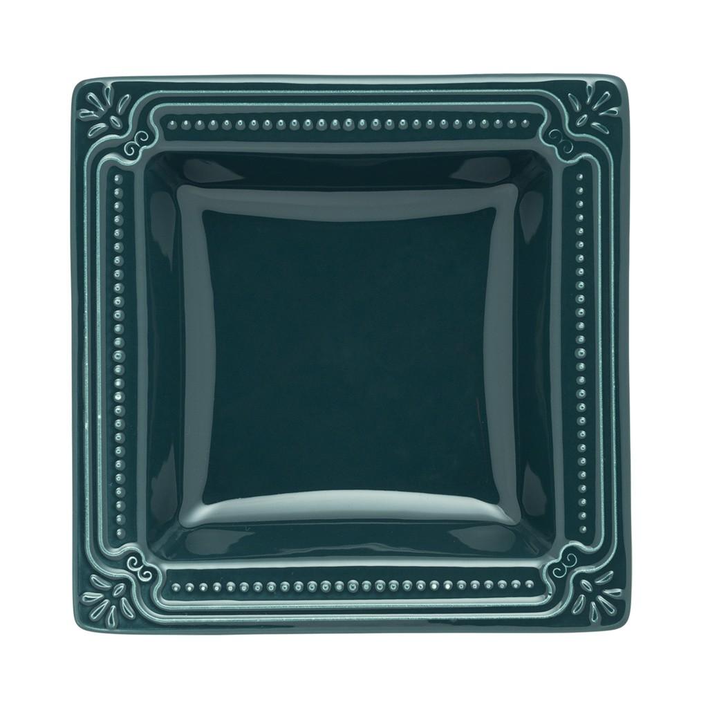 Jogo de Pratos Fundos Porcelana Oxford Verde Comté 6 Unidades