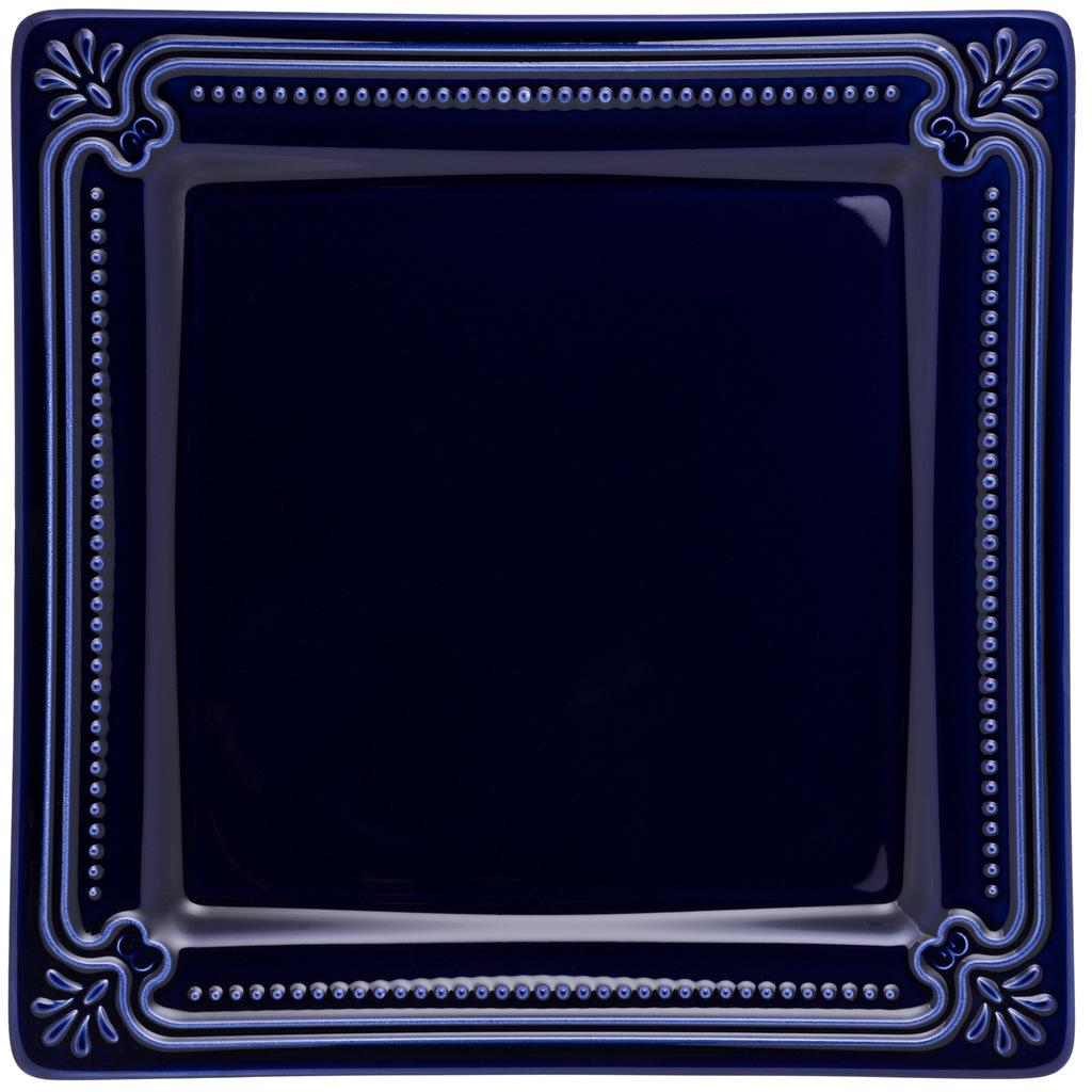 Jogo de Pratos Rasos Azul Royal Porcelana Oxford 6 Unidades
