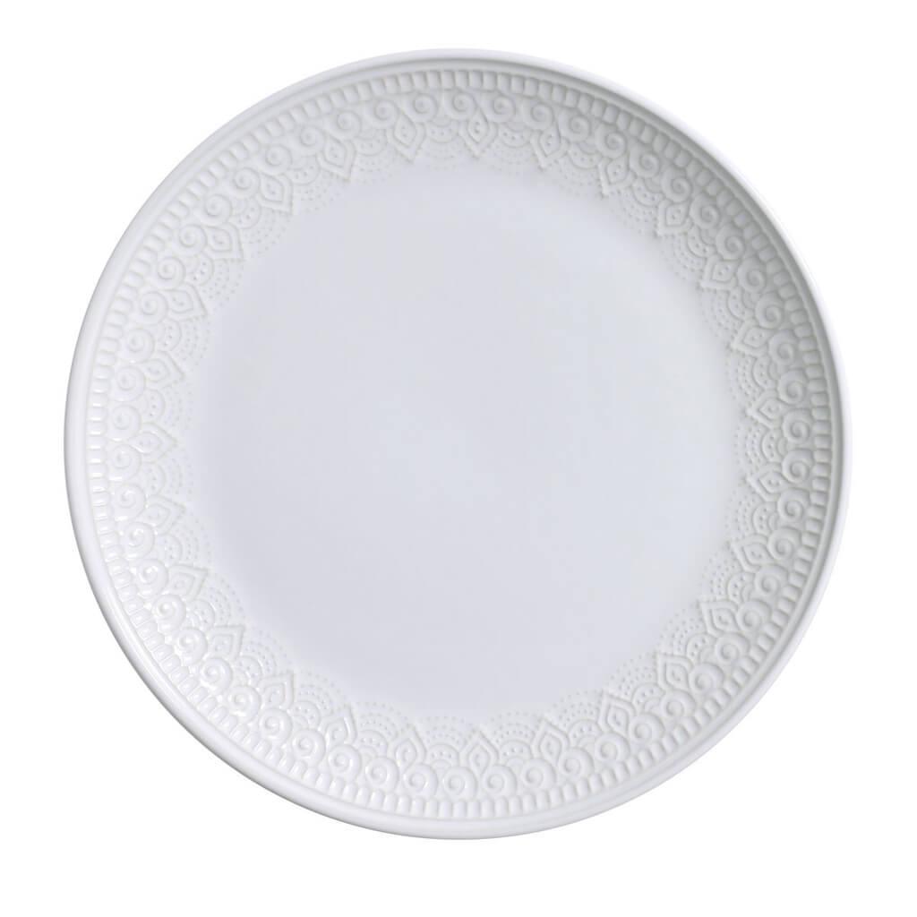 Jogo de Pratos Rasos Branco Agra 6 Unidades