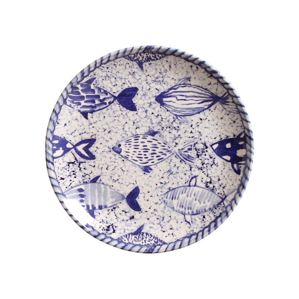 Jogo De Pratos Rasos e de Sobremesa Porto Brasil Fish 6 unidades