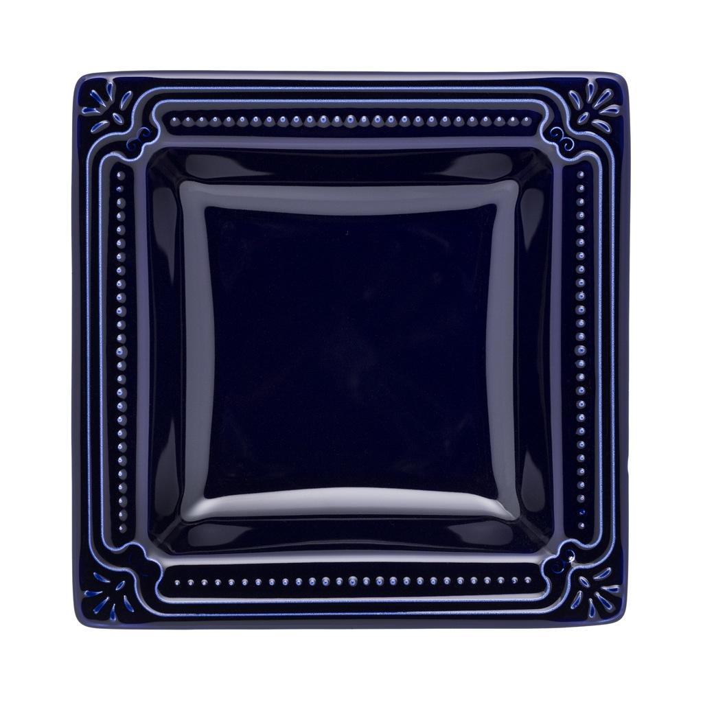Jogo de Pratos Rasos Fundos e de Sobremesa Azul Royal Porcelana Oxford 6 Pessoas