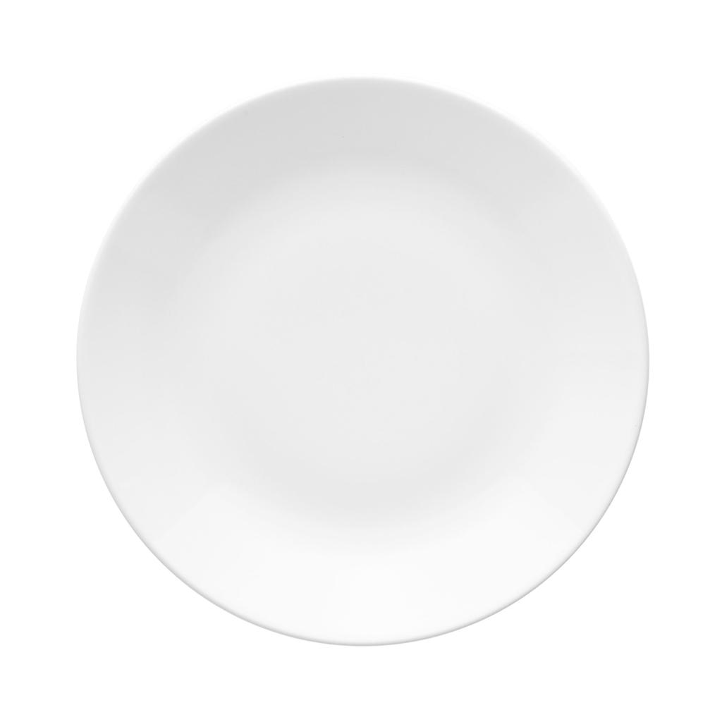 Jogo de Pratos Rasos Fundos e Sobremesa Brancos Porcelana Oxford Coup White 6 Unidades