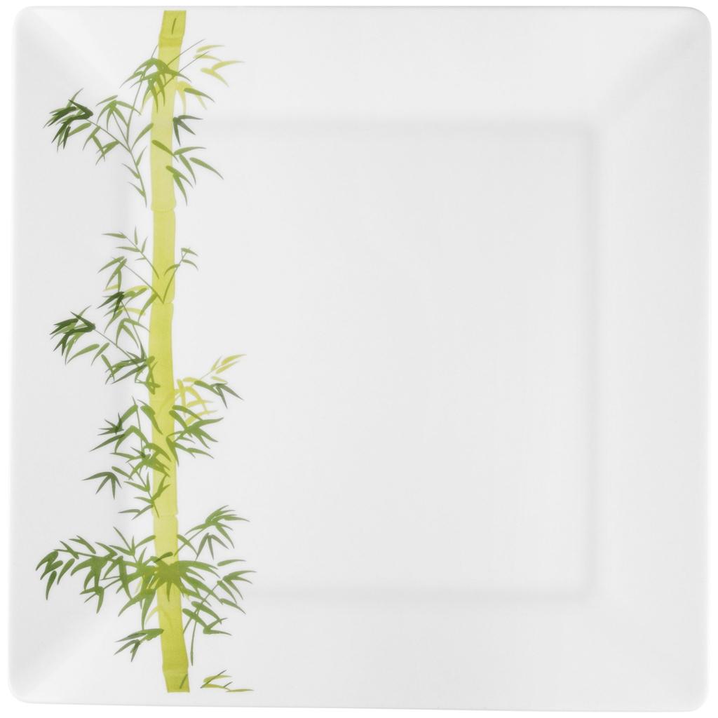 Jogo de Pratos Rasos Porcelana Oxford Bamboo 6 Unidades