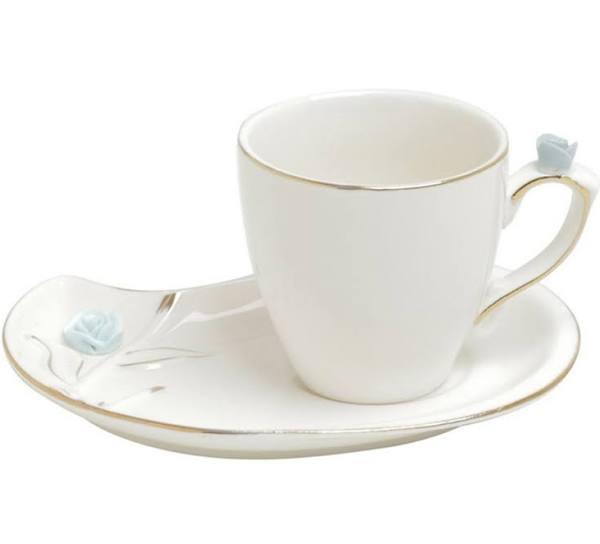 Jogo de Xícaras de Cafezinho de Porcelana Wolff Flower Design Colorido 90 ml