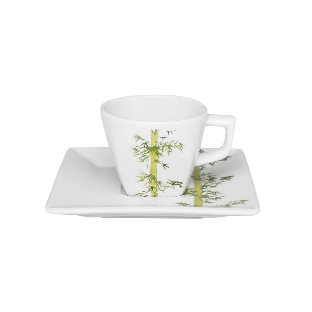 Jogo de Xícaras de Cafezinho Porcelana Oxford Bamboo 75ml 6 Unidades