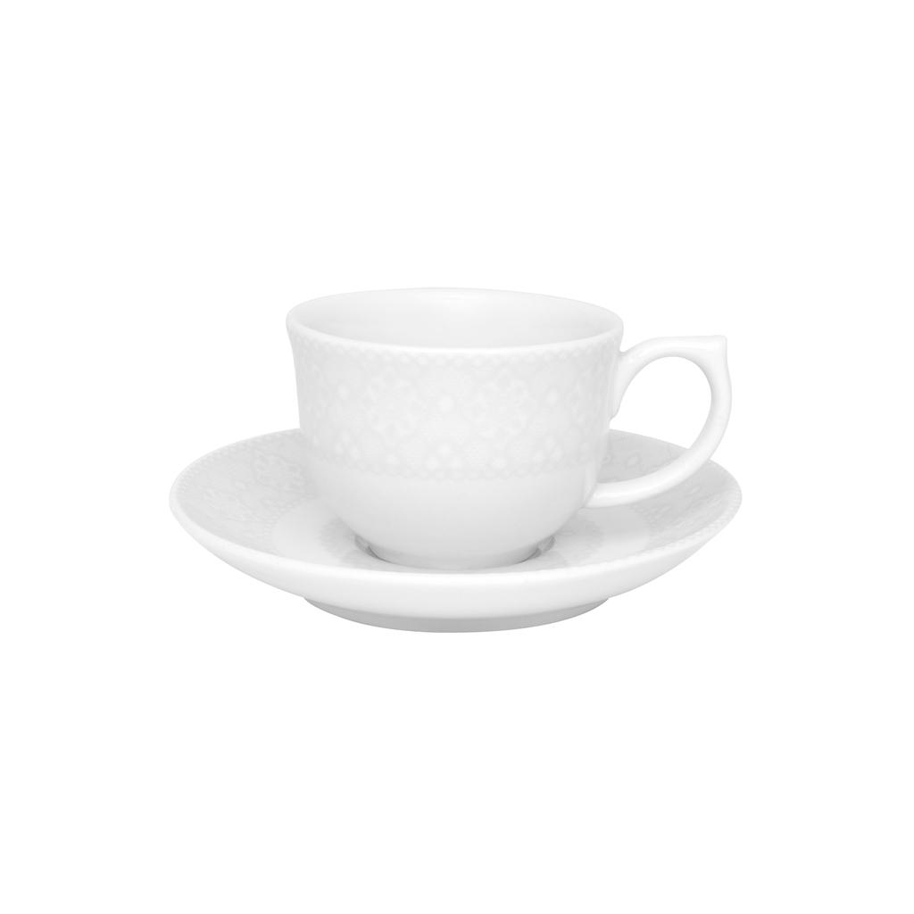 Jogo de Xícaras de Cafezinho Porcelana Oxford Dress 100ml 6 Unidades