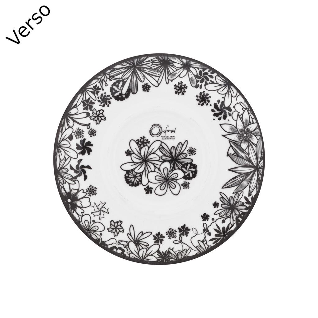 Jogo de Xícaras de Cafezinho Porcelana Oxford Floresta Negra 75ml 6 Unidades