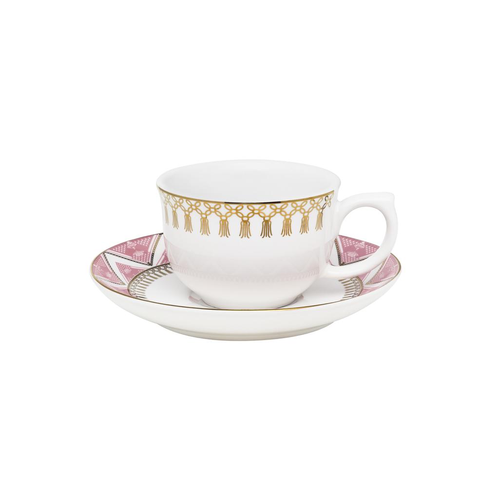 Jogo de Xícaras de Cafezinho Porcelana Oxford Macramê 100ml 6 Unidades