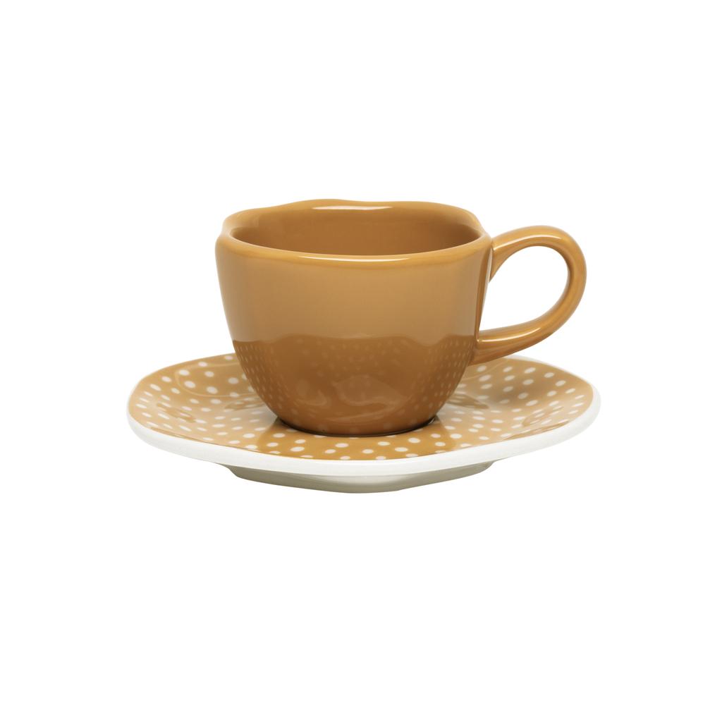 Jogo de Xícaras de Cafezinho Porcelana Oxford Ryo Raízes 6 Unidades