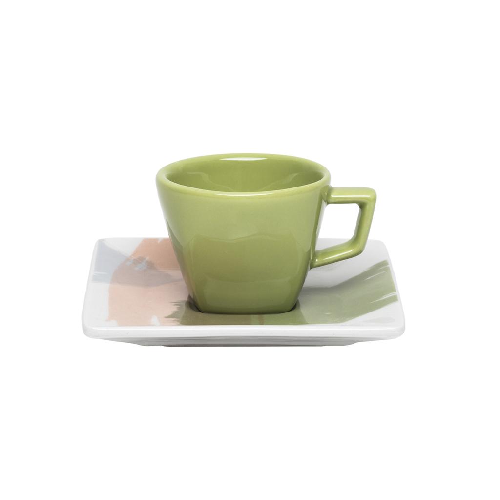 Jogo de Xícaras de Cafezinho Porcelana Oxford Sketch 75ml 6 Unidades