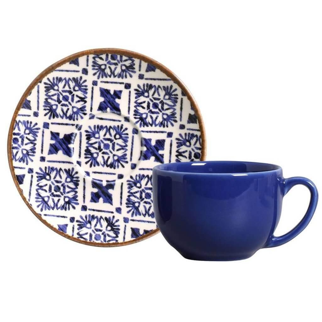 Jogo de Xícaras De Chá Asteca Porto Brasil 6 Unidades