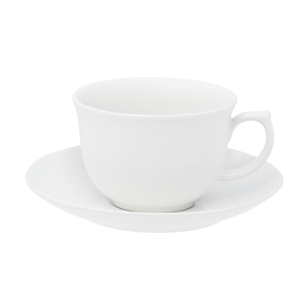 Jogo de Xícaras de Chá Porcelana Oxford Flamingo White 240ml 6 Unidades