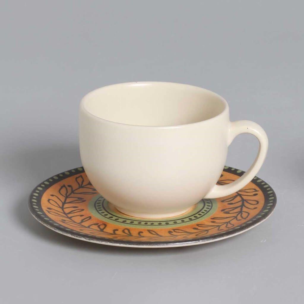 Jogo de Xícaras de Chá Porto Brasil Oliva 6 Unidades