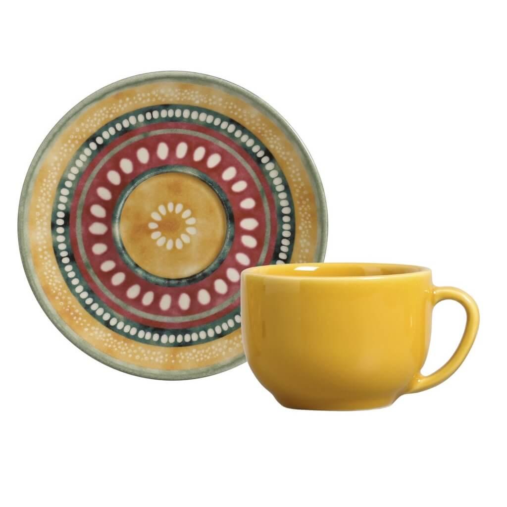Jogo de Xícaras de Chá Porto Brasil Yucatán 6 Unidades