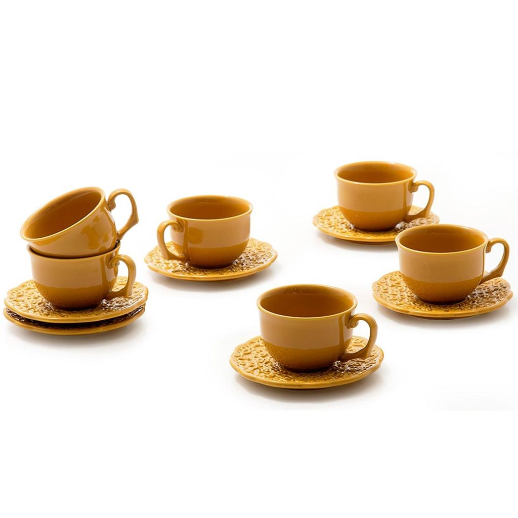 Jogo de Xícaras de Chá Rita Lobo Marrakech Curry 6 Unidades