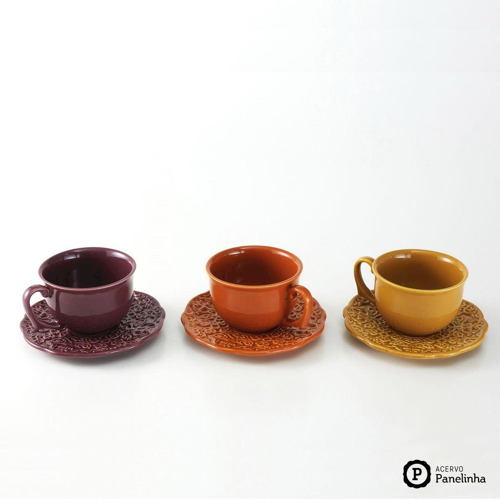 Jogo De Xícaras de Chá Rita Lobo Marrakech Panelinha 3 Unidades