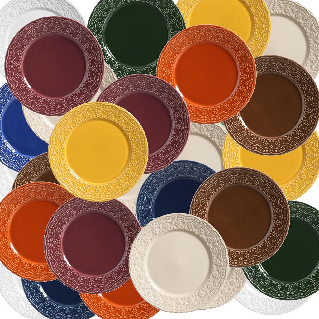 Pratos de Sobremesa Madeleine Porto Brasil Color 6 Unidades