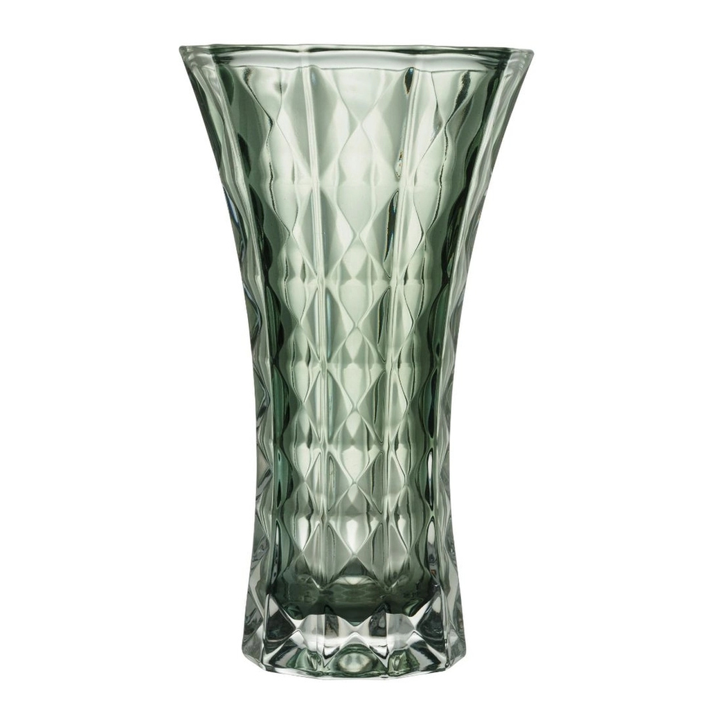 Vaso Cristal Wolff Diamant Verde 26cm Rojemac
