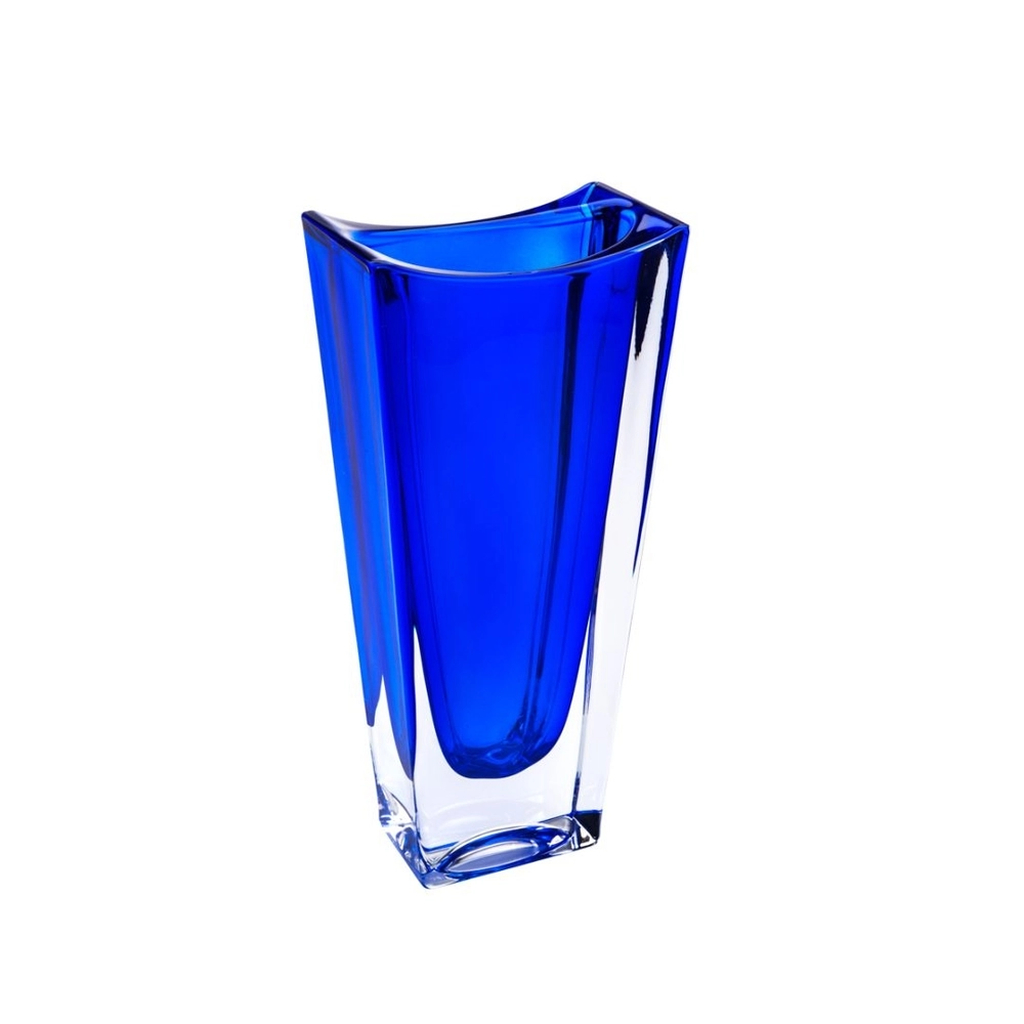 Vaso de Cristal Ecológico Bohemia Okinawa Cobalto 30,0cm