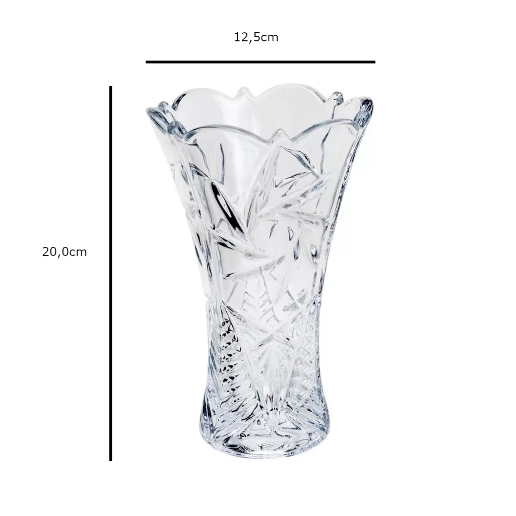 Vaso de Cristal Ecológico Bohemia Pinwheel Acinturado Transparente 20,0cm