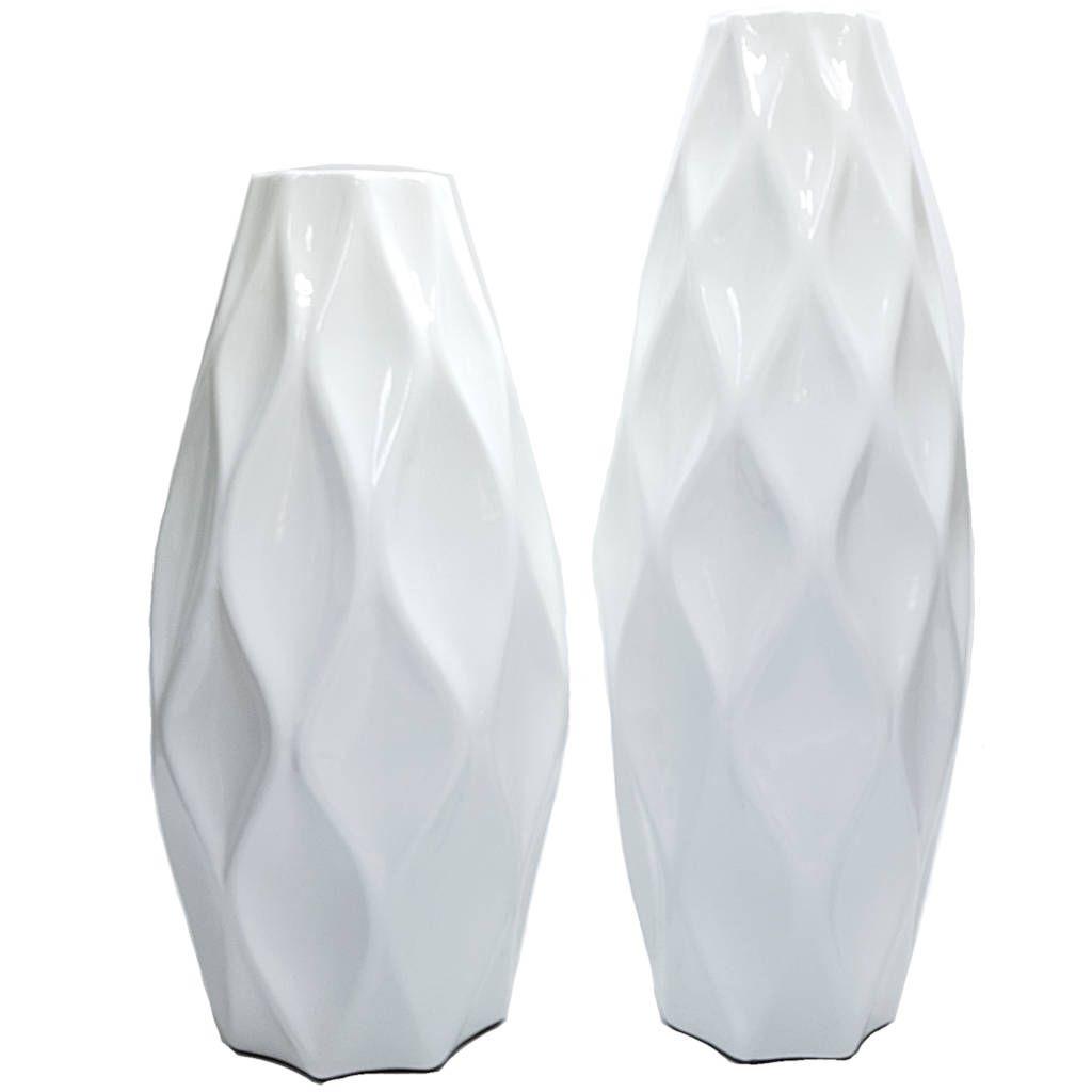 Vaso Decorativo Branco Mazzotti Tipo Colmeia 403 30cm