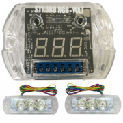 Strobo Zendel RGB com Voltímetro