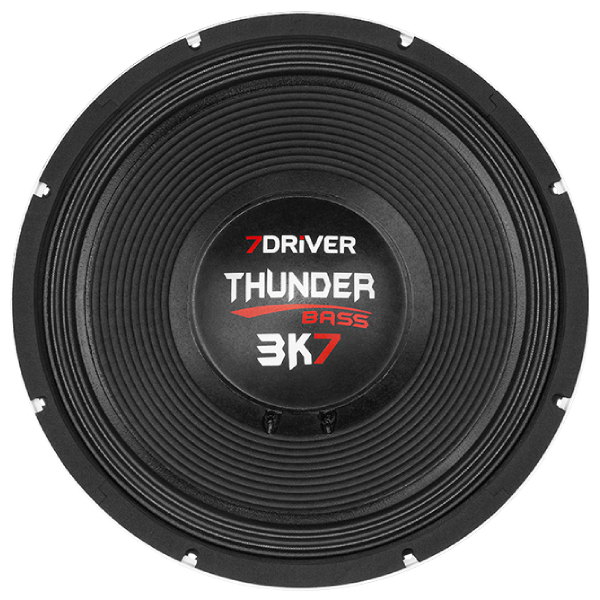 "Alto Falante 7Driver 15"" Thunder Bass 3k7 Grave 2400W 4 Ohms"