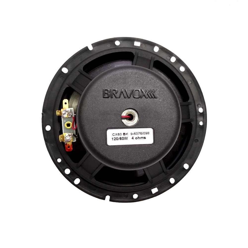"Par de Alto Falante Bravox 6"" Coaxial 240W 4 Ohms CX60BK"