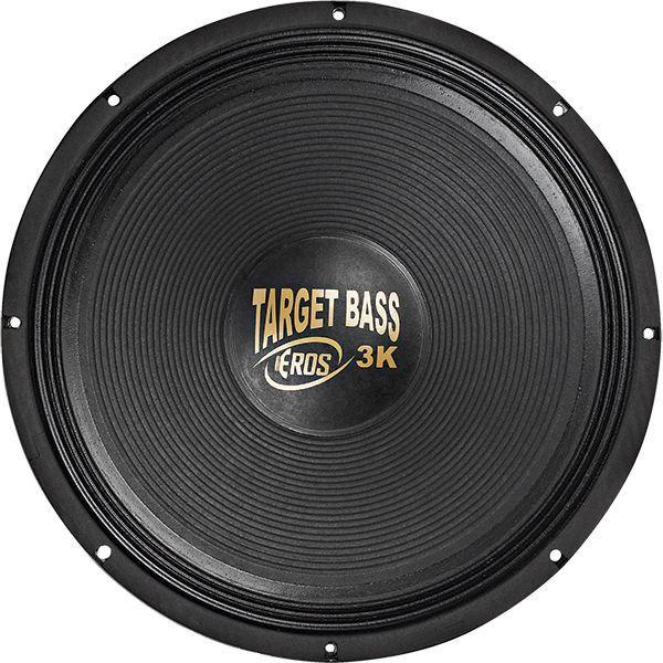 """Alto Falante Eros 18"""" 3000W 4 Ohms Target Bass 3k Cromado"""