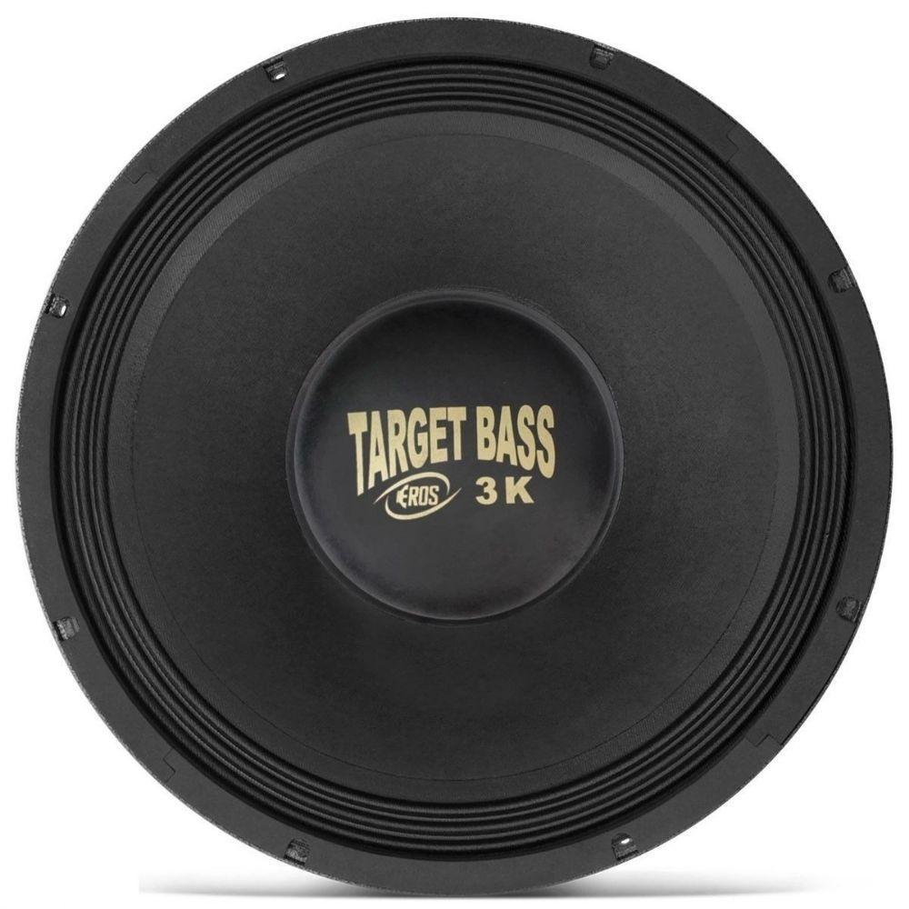 Alto Falante Eros 15'' 3000W 4 Ohms Target Bass 3.0K Grave Cromado