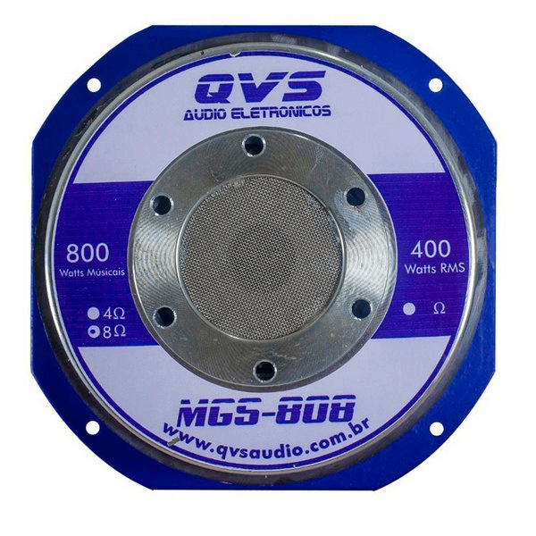 "Alto Falante QVS 8"" 8MGS808 Médio Grave 800W 8 Ohms"