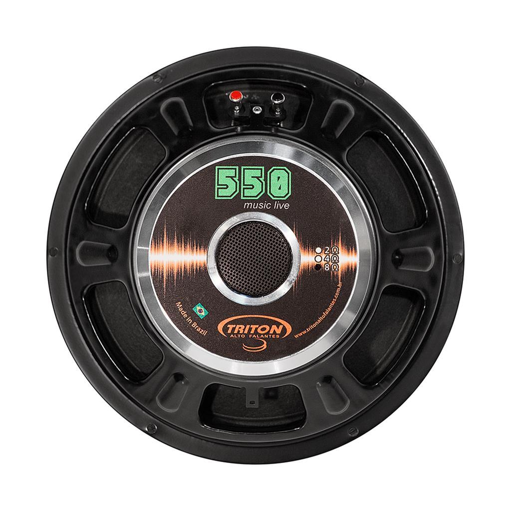 """Alto Falante Triton 12"""" 1100W 4 Ohms Pro Audio TR 550"""