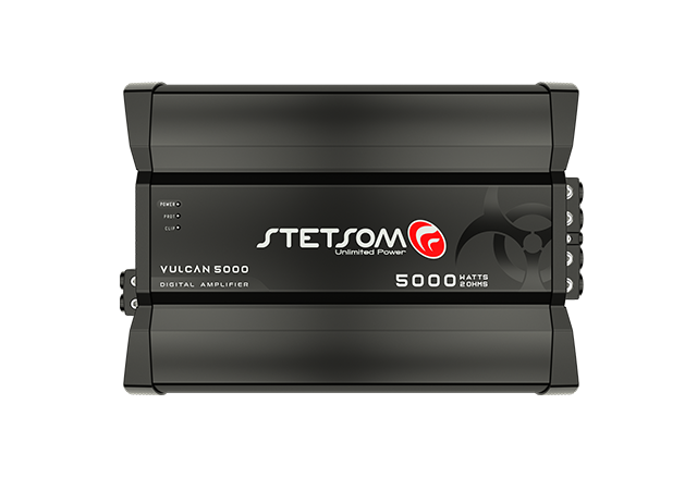 Amplificador Digital Stetsom Vulcan 5000W 1 Canal 1 Ohm 5000.1