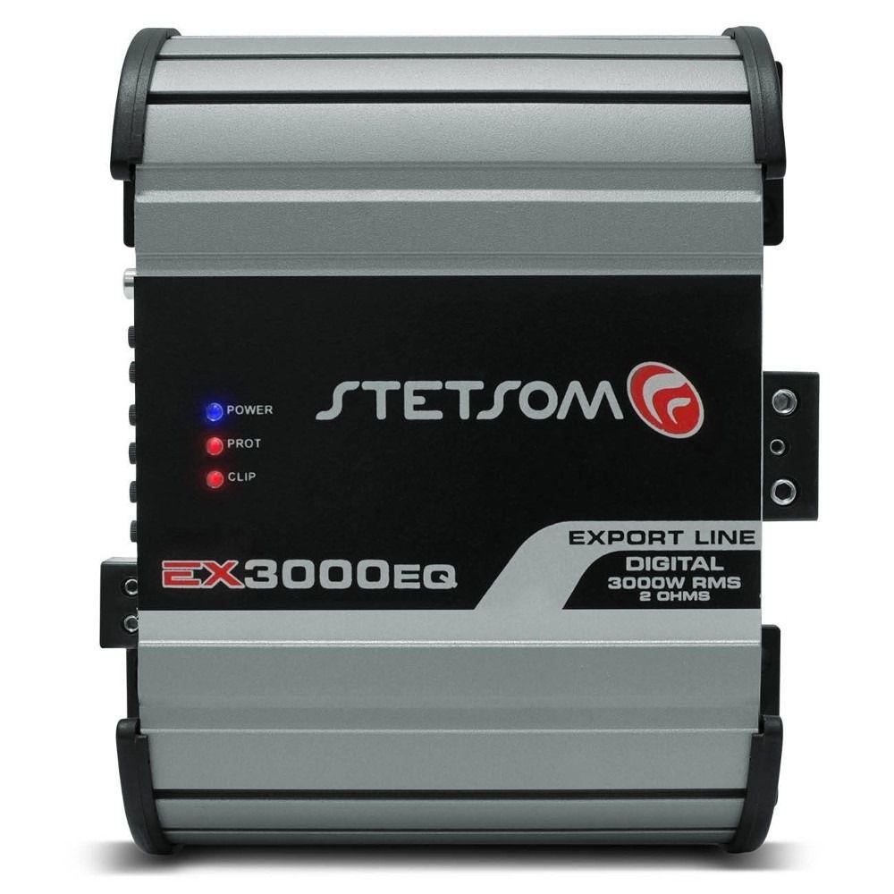 Módulo Amplificador Stetsom EX3000 EQ 1 Canal 1 Ohms