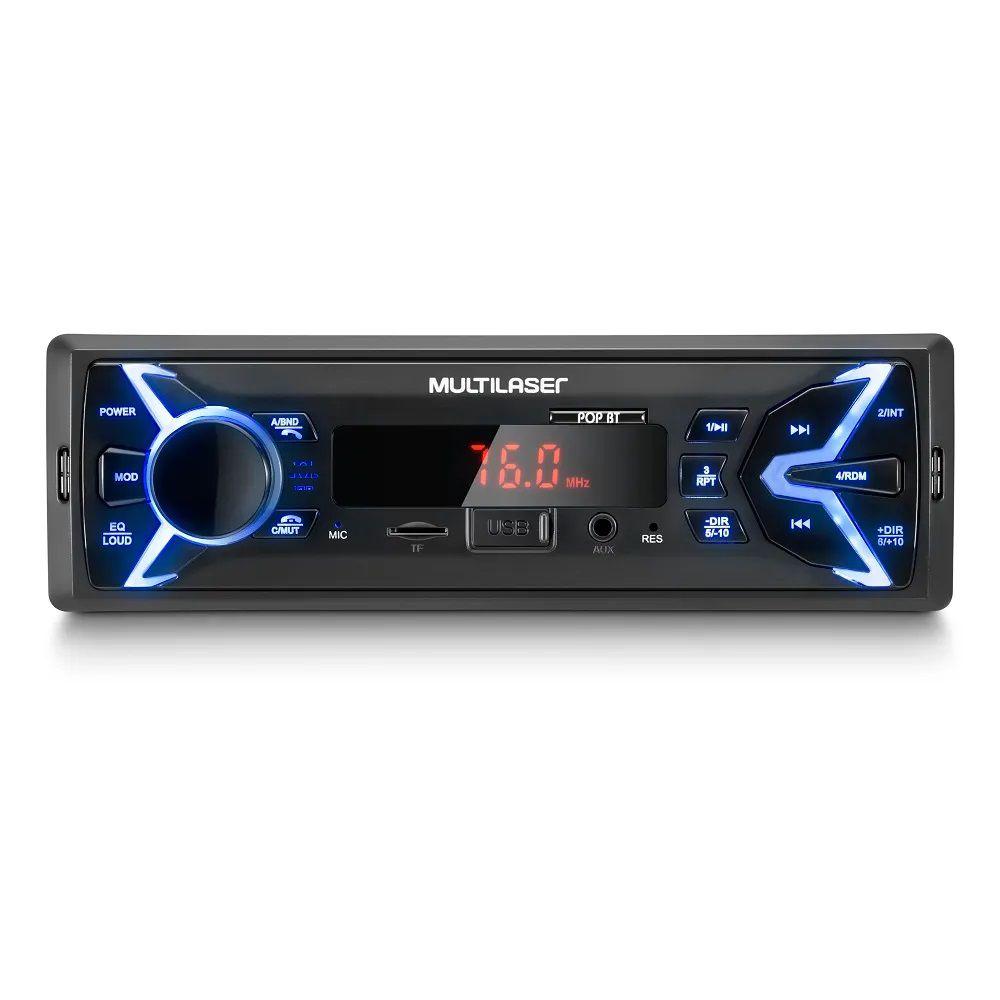 Auto Rádio Multilaser POP Bluetooth