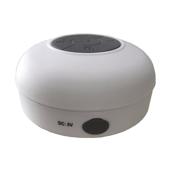 Caixa de Som Bluetooth para Banho com Disco de Sucção