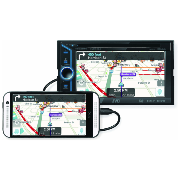 """Central Multimídia JVC 6"""" KW-V30BT DVD com Bluetooth"""