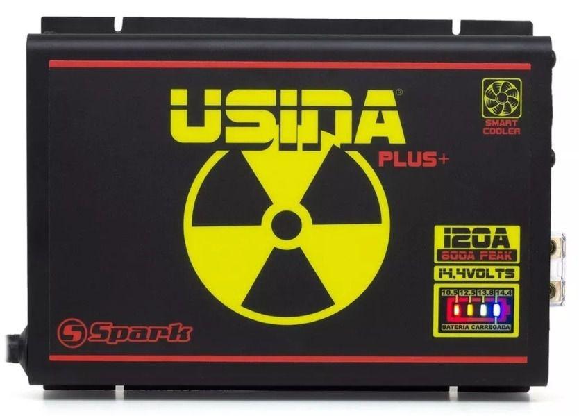 Fonte Carregador Usina 120A Bi-Volt Battery Meter