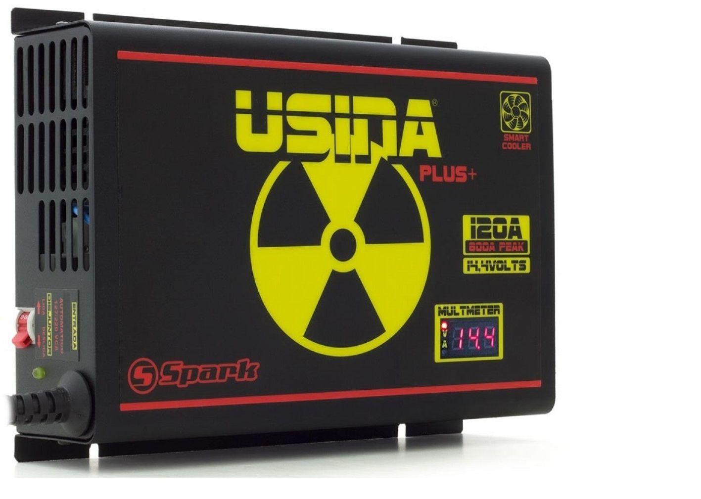 Fonte Carregador Usina 120A Bi-Volt 127/220v Display VOLT/AMP