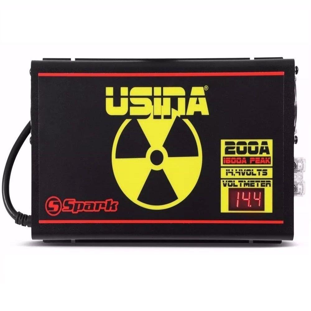 Fonte Carregador Usina 200A Mono-Volt Display VOLT/AMP