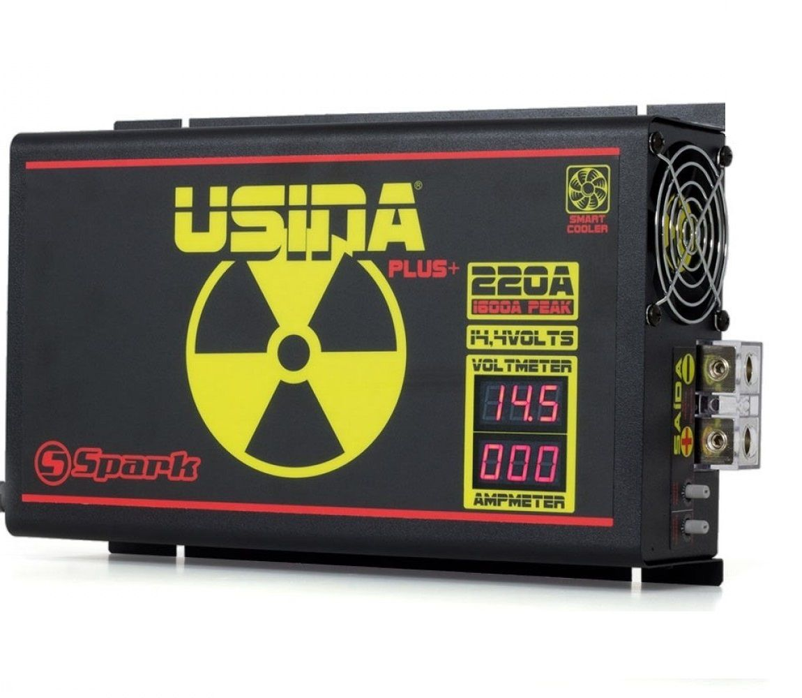 Fonte Carregador Usina 220A Mono-Volt 220V display VOLT/AMP