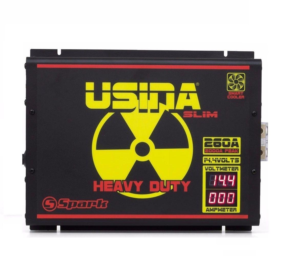 Fonte Carregador Usina 260A Slim Mono-Volt Display VOLT/AMP